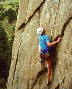 Challenge yourself—go rock climbing!