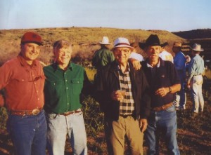 Headmasters Todd Horn, Chip Wolcott, Charlie Orme and Buck Hart on a past Vaqueros ride